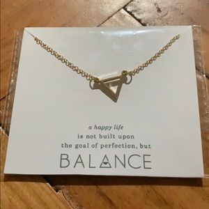 """Balance"" gold triangle necklace"